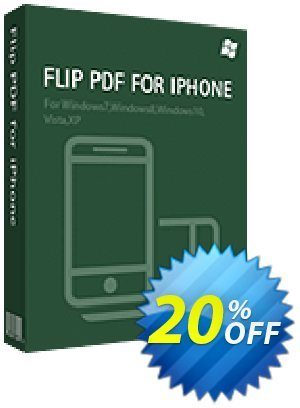 Flip PDF for iPhone Coupon, discount 20% IVS and A-PDF. Promotion: 20% IVS and A-PDF