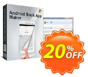 Android book app maker personal Coupon, discount 20% IVS and A-PDF. Promotion: 20% IVS and A-PDF
