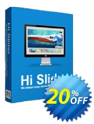 Hi Slider Coupon, discount 20% IVS and A-PDF. Promotion: