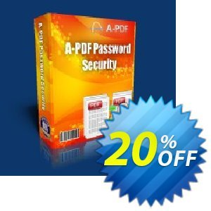 A-PDF Password Security for Mac Coupon discount A-PDF Coupon (9891) - 20% IVS and A-PDF