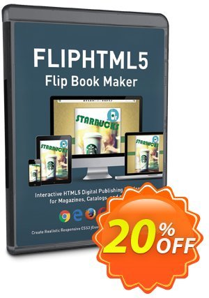 FlipHTML5 Gold Coupon, discount 20% IVS and A-PDF. Promotion: 20% IVS and A-PDF