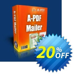 A-PDF Mailer Coupon, discount 20% IVS and A-PDF. Promotion: 20% IVS and A-PDF
