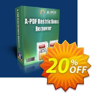 A-PDF Restrictions Remover command line Coupon, discount A-PDF Coupon (9891). Promotion: OFF for command line edition