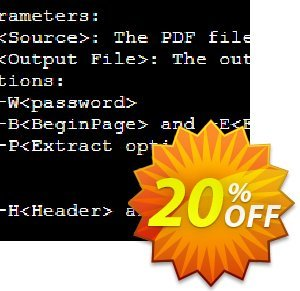 A-PDF Text Extractor Command Line Coupon, discount A-PDF Coupon (9891). Promotion: PTCMD console discount