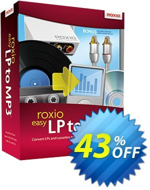 Roxio Easy LP to MP3 Coupon, discount 43% OFF Roxio Easy LP to MP3, verified. Promotion: Excellent discounts code of Roxio Easy LP to MP3, tested & approved