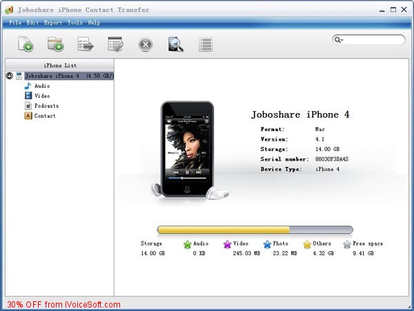 Coupon code for Joboshare iPhone Contact Transfer