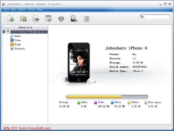 Coupon code for Joboshare iPhone iBooks Transfer