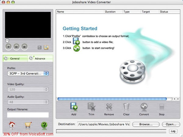 Coupon code for Joboshare Video Converter for Mac