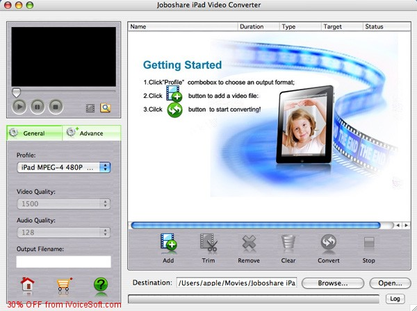 Coupon code for Joboshare iPad Video Converter for Mac