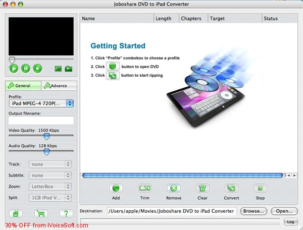 Coupon code for Joboshare VOB to iPad Converter for Mac