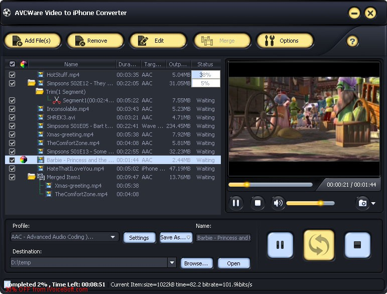 Coupon code for AVCWare Video to iPhone Converter 6