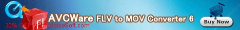 Coupon code for AVCWare FLV to MOV Converter 6