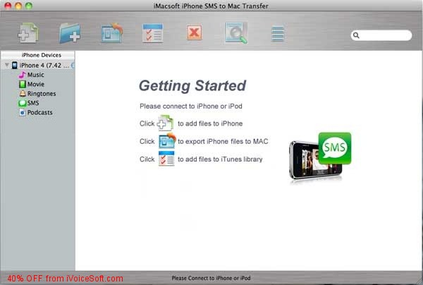 Coupon code for iMacsoft iPhone SMS to Mac Transfer