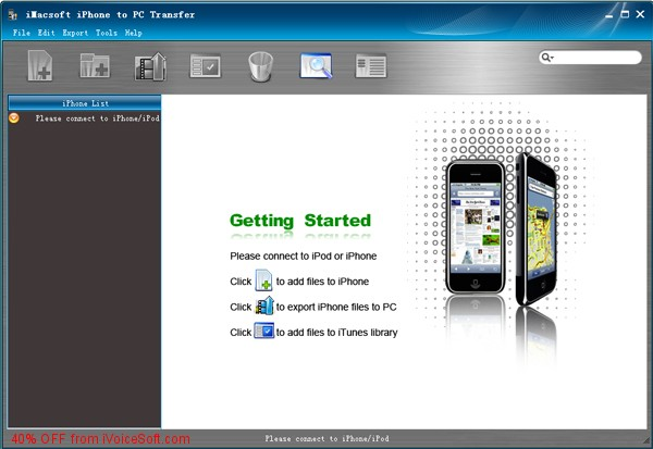Coupon code for iMacsoft iPhone to PC Transfer