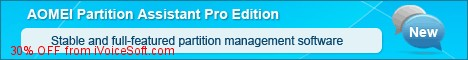 Coupon code for AOMEI Partition Assistant Professional Edition