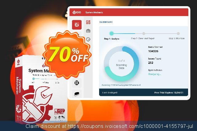 iolo System Mechanic discount 50% OFF, 2018 Christmas Day offering sales