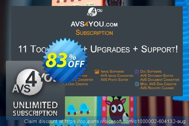 AVS4YOU Unlimited Subscription discount 83% OFF, 2019 Christmas Day offering sales