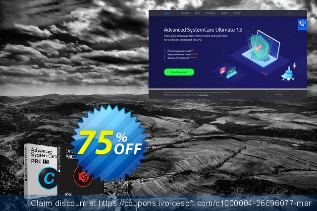 2019 IObit Black Friday: Advanced SystemCare 13 PRO + Driver Booster 7 PRO 独占 交易 软件截图