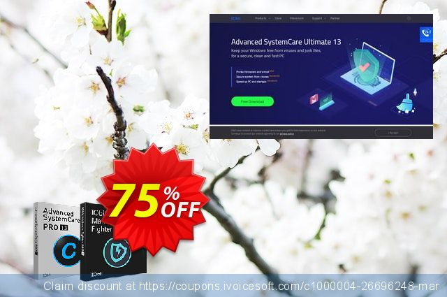2019 IObit Black Friday: Advanced SystemCare PRO +  IObit Malware Fighter PRO discount 75% OFF, 2020 New Year deals