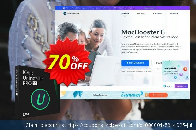 IObit Uninstaller 9 PRO (3 PC) discount 30% OFF, 2019 Thanksgiving Day offering sales