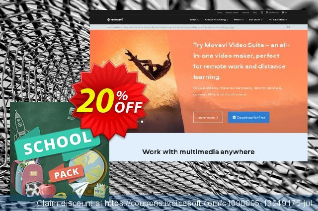 Movavi effect School Pack discount 20% OFF, 2021 All Saints' Eve offering sales. School Pack fearsome sales code 2021