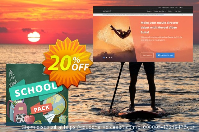 Movavi effect School Pack discount 20% OFF, 2020 Back-to-School promotions offering sales