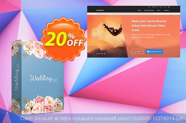 Movavi effect Wedding Set 令人敬畏的 产品折扣 软件截图