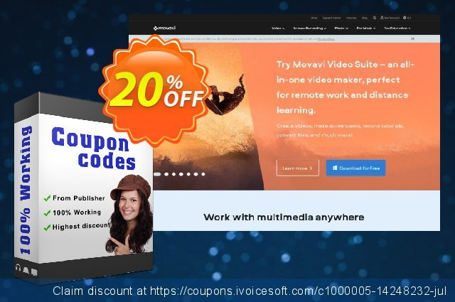 Movavi Business Bundle: Photo Manager + Photo Editor discount 20% OFF, 2020 Back to School deals offering sales