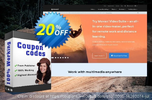 Movavi Bundle: Photo Editor + Photo Manager discount 20% OFF, 2020 Student deals offering sales