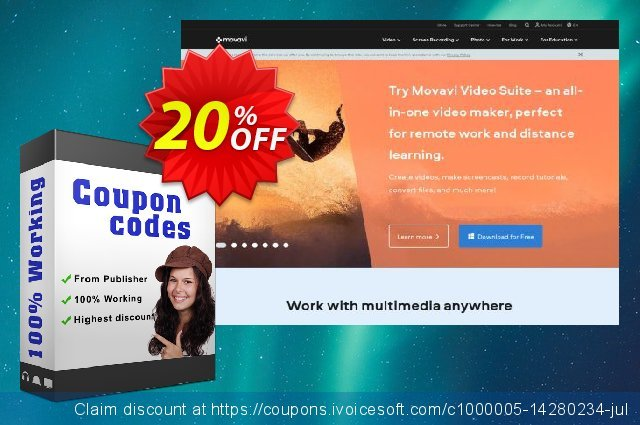 Movavi Bundle: Photo Editor + Photo Manager (Mac) discount 20% OFF, 2020 Back to School event discounts