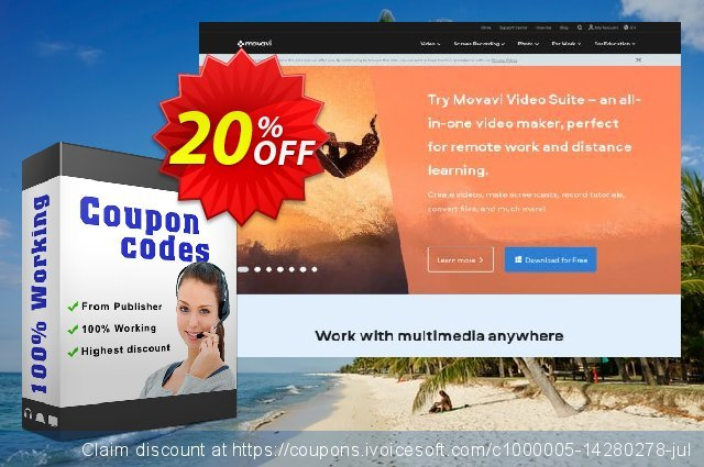 Movavi Business Bundle: Photo Editor + Photo Manager (Mac) discount 20% OFF, 2020 Back to School deals offering discount