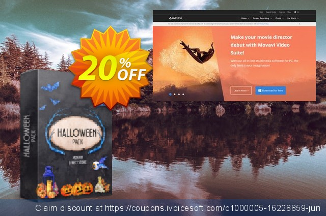 Movavi effect Halloween Pack discount 20% OFF, 2020 College Student deals discount