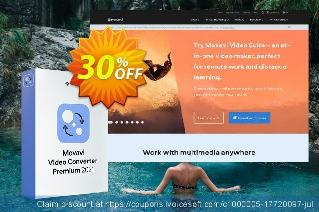 Movavi Video Converter Premium for Mac Business (1 year) discount 20% OFF, 2020 Halloween promo