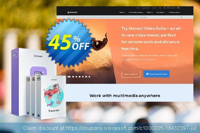 Movavi Slideshow Maker Plus (Mac) discount 20% OFF, 2020 Back to School deals offering sales