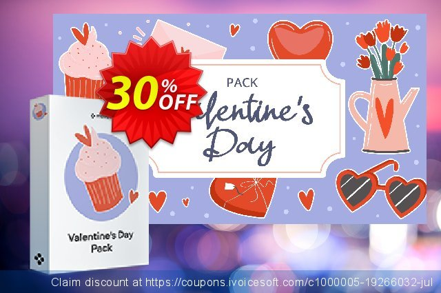 Valentine's Day Pack discount 20% OFF, 2020 Back to School event promo sales