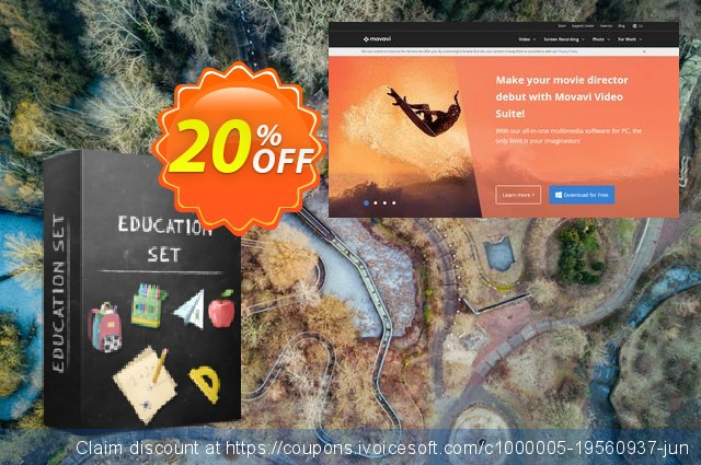 Movavi effect Education Set discount 20% OFF, 2020 Back to School deals offering sales