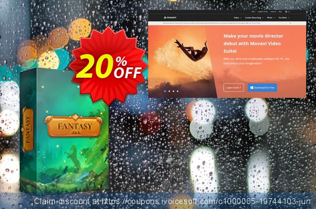 Movavi effect Fantasy Pack discount 20% OFF, 2019 Christmas & New Year discount
