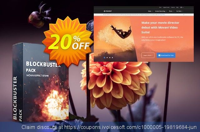 Movavi effect Blockbuster Pack discount 20% OFF, 2019 Xmas offer