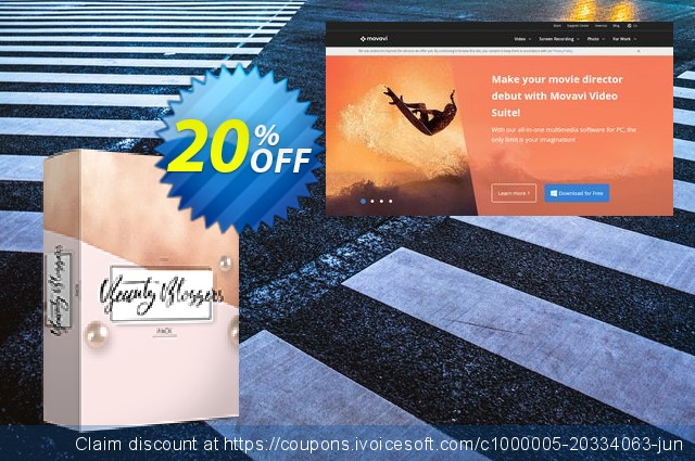 Movavi effect Beauty bloggers Pack discount 20% OFF, 2020 Teacher deals offering sales