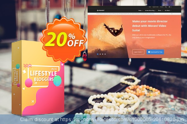 Movavi effect Lifestyle bloggers Pack discount 20% OFF, 2020 University Student offer offering sales
