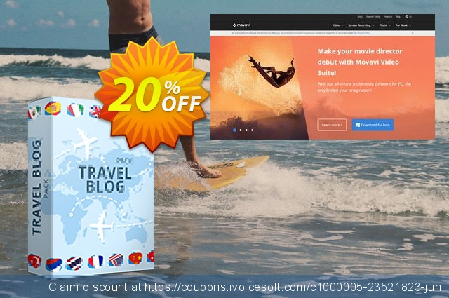Movavi effect Travel blog Pack discount 20% OFF, 2019 Halloween promo