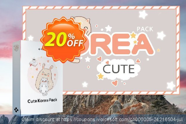 Get 20% OFF Movavi effect Cute Korea Pack offering sales