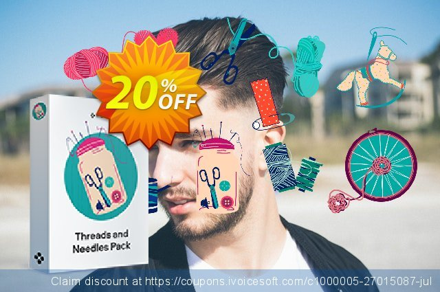 Movavi effect: Threads and Needles Pack discount 20% OFF, 2020 Teacher deals promo sales