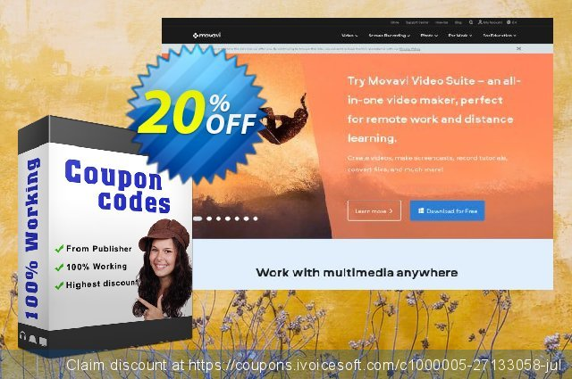Movavi effect Space Journey Pack discount 20% OFF, 2020 Halloween promo