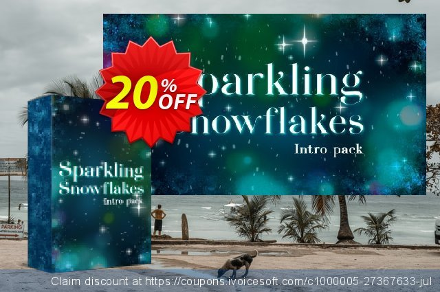 Movvi effect: Sparkling Snowflakes Intro Pack personal discount 20% OFF, 2020 University Student offer promo