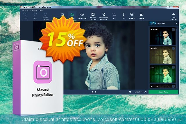 Movavi Photo Editor for Mac (1 year subscription) 惊人 促销销售 软件截图