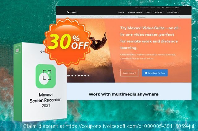 Movavi Screen Recorder for MAC (Business) discount 20% OFF, 2020 Halloween offering sales