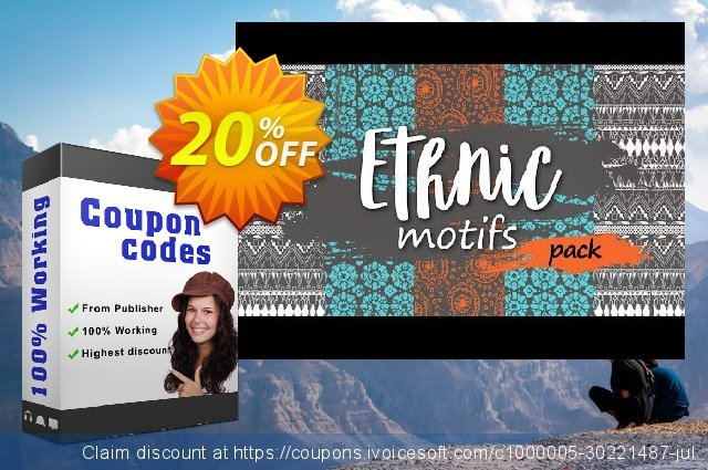 Movavi effect: Ethnic Motifs Pack discount 20% OFF, 2020 Christmas promo