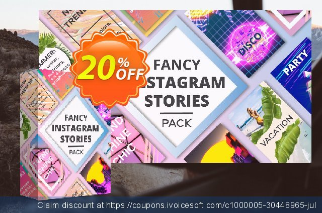 Movavi effect: Fancy Instagram Stories Pack discount 20% OFF, 2020 Thanksgiving Day discounts