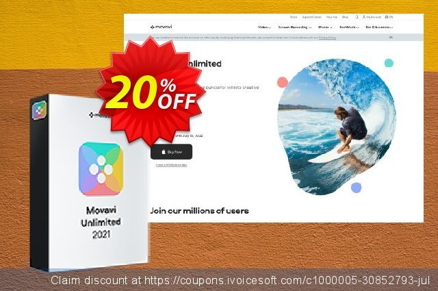 Movavi Unlimited for MAC Business 1-year  경이로운   세일  스크린 샷